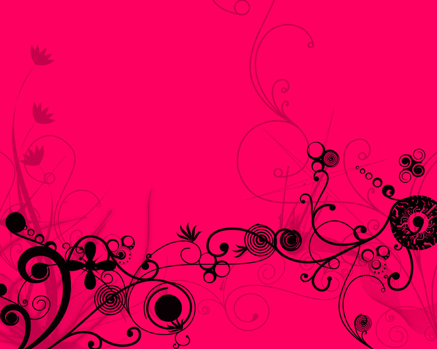 Hot Pink Flower Background