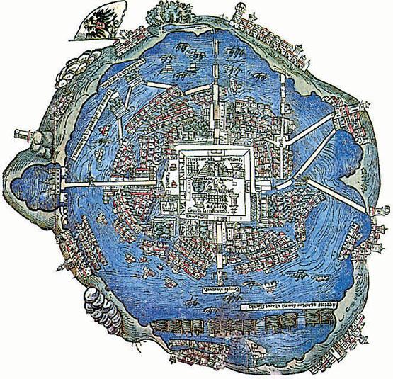 La Grande Ville De Tenochtitlan En