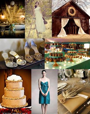 wedding color palette teal silver green Fieldsofwheat teal light purple