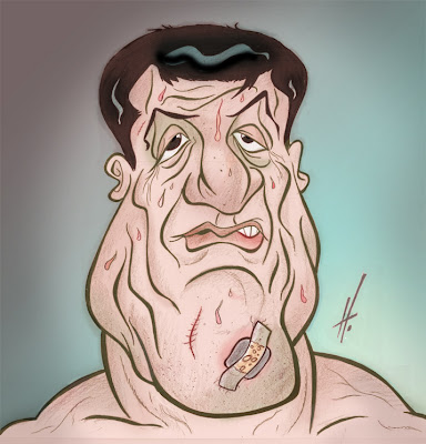 Sylvester Stallone caricature
