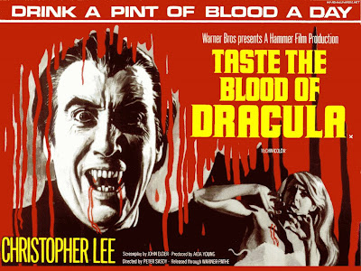 Taste the Blood of Dracula movie poster | Christopher Lee