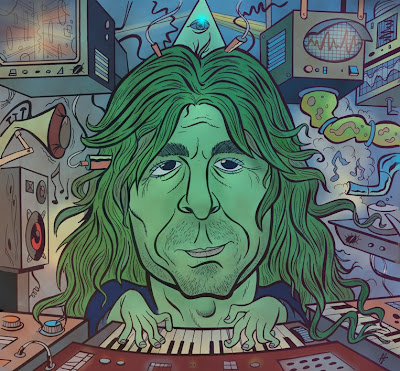pink floyd richard wright caricature