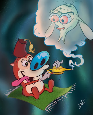 Ren & Stimpy Aladdin fan art