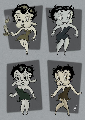 Betty Boop drawings