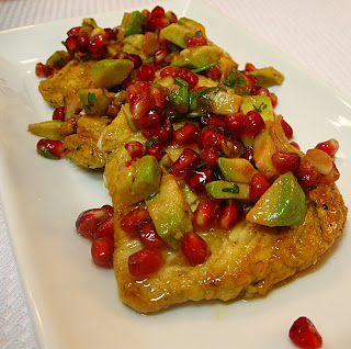 All That Splatters: Chicken Paillards with Avocado-Pomegranate Salsa