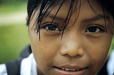 Schoolgirl from Bocas del Toro, Panama