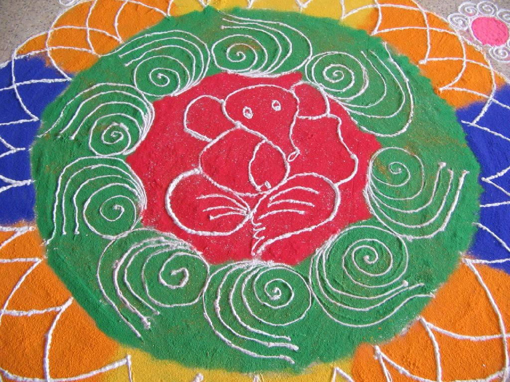 Diwali Rangoli Art Designs Flowers Patterns Backgrounds