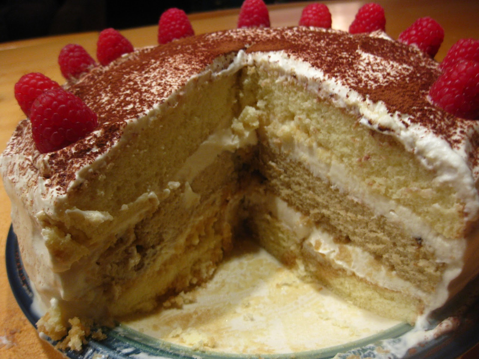 Today I made a Tiramisu Layer Cake. I was inspired again by my ...