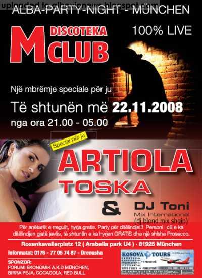 M Club 22 Nentor 2008 Artiola Toska