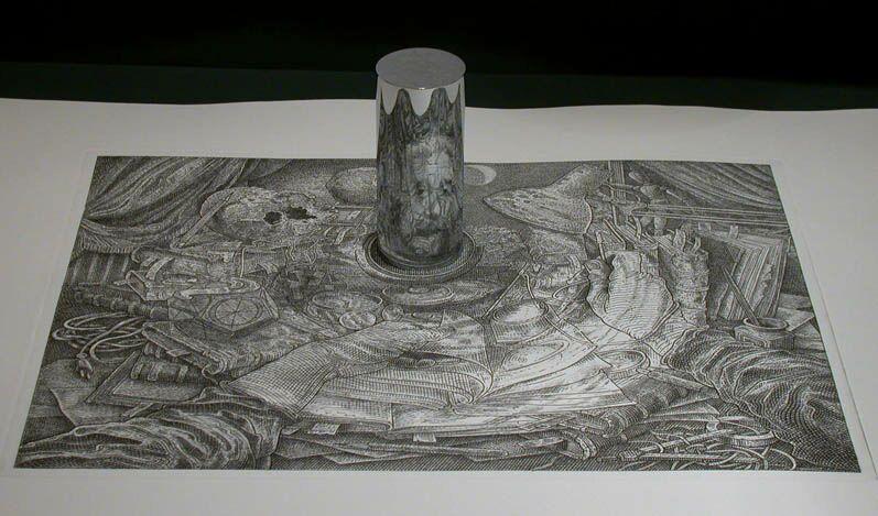 Anamorphic Cylinder Art - newhairstylesformen2014.com
