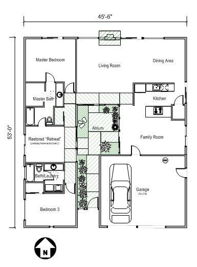 one floor home plans