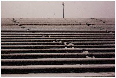 snow on bourke-white steps