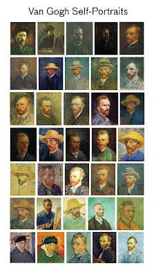Hi res vincent van gogh self portraits paintings chart diagram