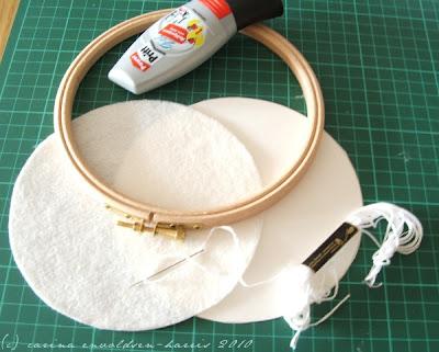Как оформить круглую вышивку