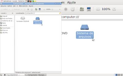 Magnifier em execução no GNOME