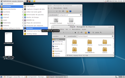 Tema Equinox Evolution Light no Debian