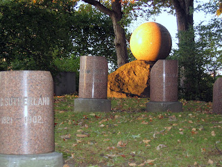 sphere headstone