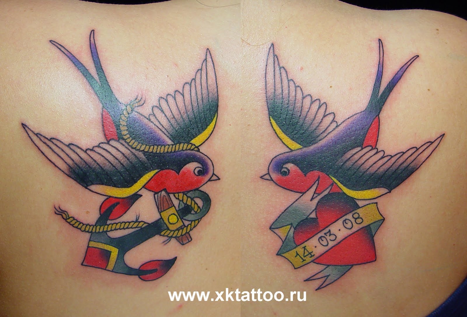 Baby dragon year inspiration sparrow tattoos for Traditional sparrow tattoo