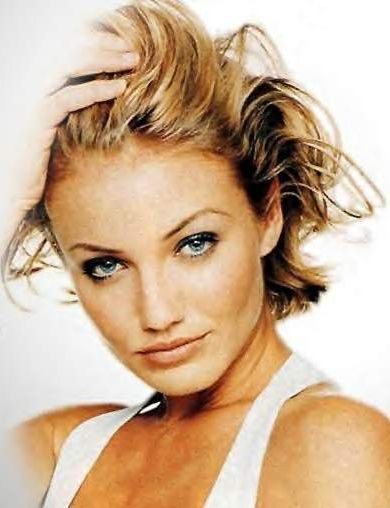 cameron diaz hair colour. cameron diaz short hair.