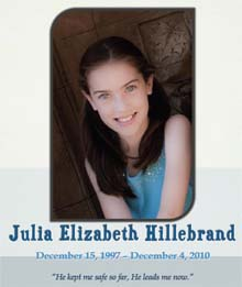 Celebration of Life <br>Click Cover Below to View Julia&#39;s Mass Program