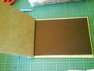 Cartonnage en el taller de curra como hacer un lbum de fotos paso a paso sencillo - Hacer un album de fotos casero ...