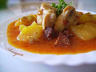 gourmet recipes-Chicken with sausage and potatoes
