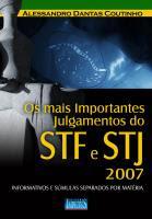 Os Mais importantes Julgamentos do STF e STJ
