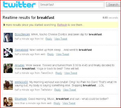 Twitter Search - Breakfast