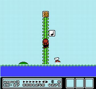 how to jump from vine in super mario