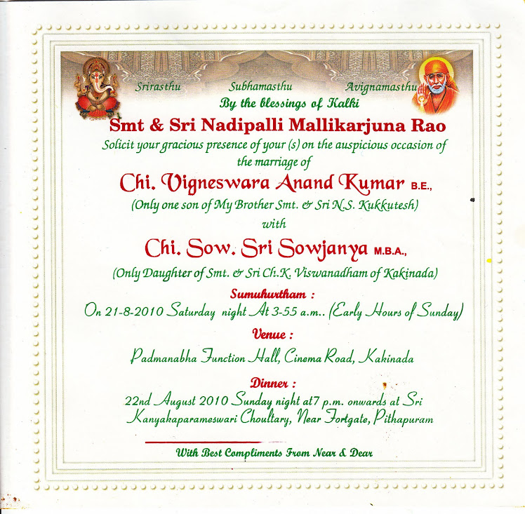 BrideGroom's Invitation
