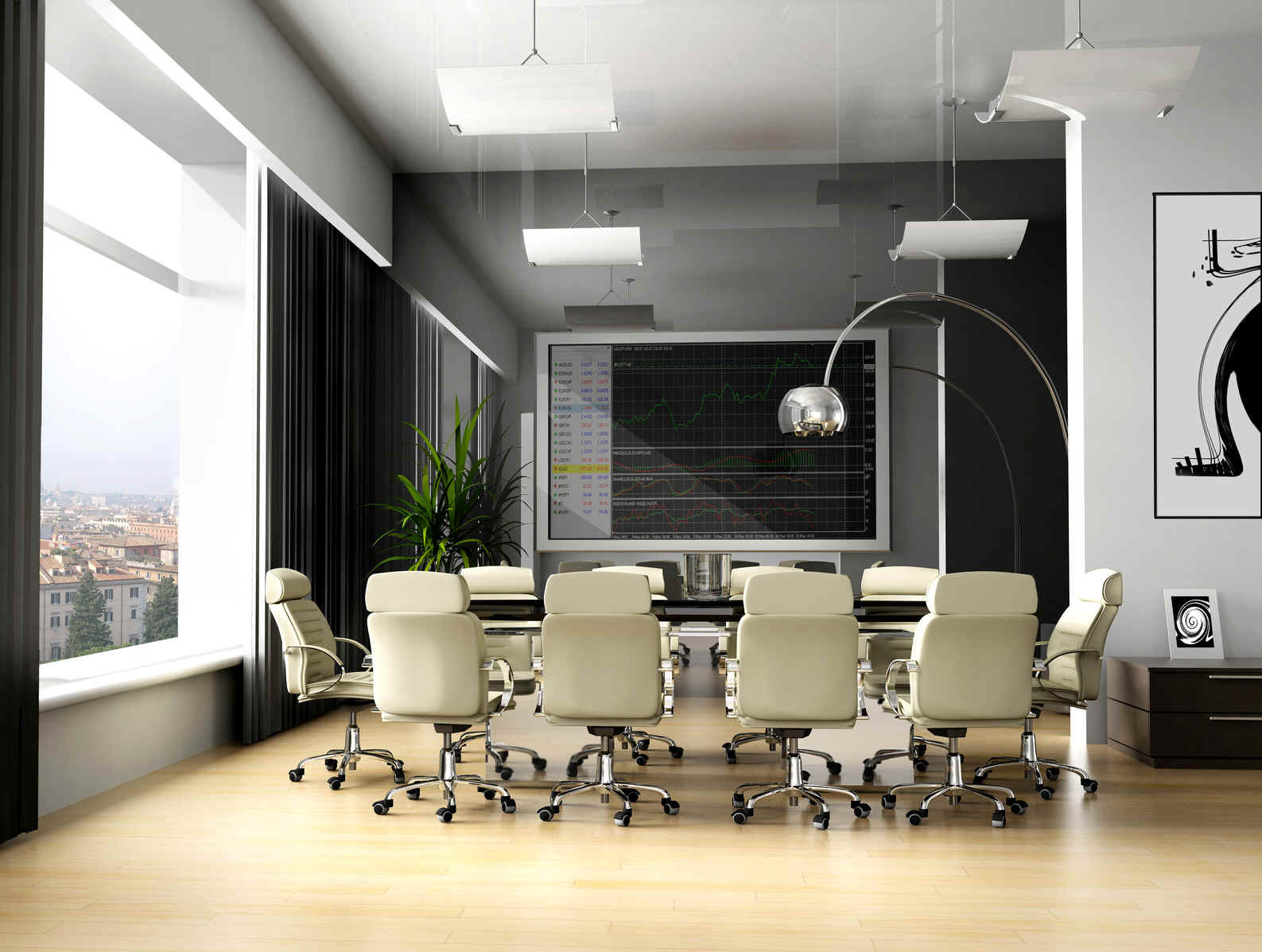 Modern office meeting room new office conference room for Home office room ideas