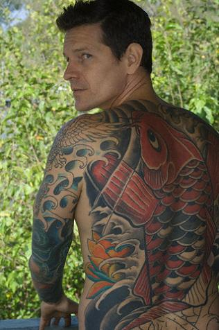 Beautiful Art of Japanese Koi Fish Tattoos With Image Japanese Koi Fish Backpiece Tattoo Designs Picture 6
