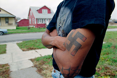 Swastika Tattoos on Male