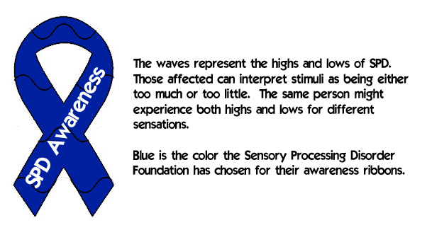 My Sensational Kids Sensory Processing Disorder Awareness Ribbon