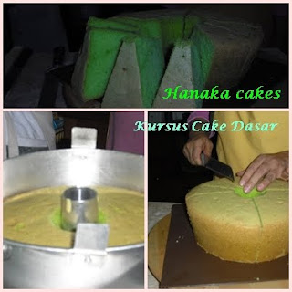 Kalau ini sponge cake pakai pasta pandan