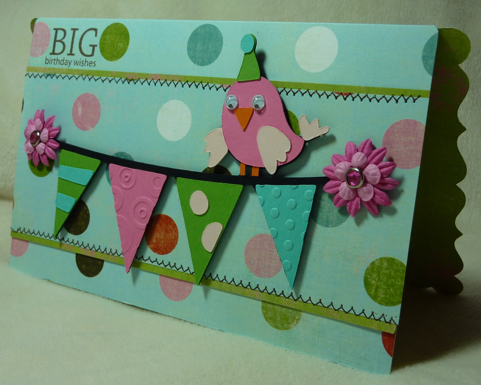 crafting with katie  birthday bash card