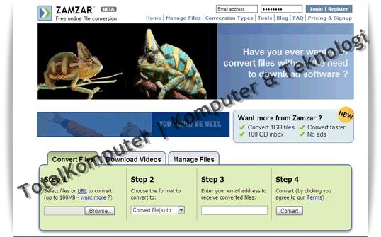 Mungkin yang paling terkenal dari situs konversi file. Zamzar telah ...