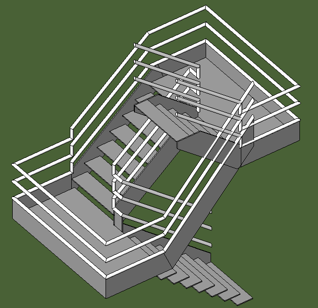 Revit In Motion Stairs With 3 Flights