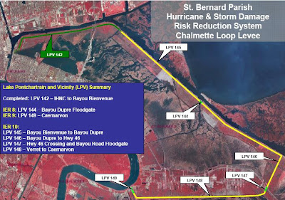 corps news release said plans for the Caernarvon Floodwall are
