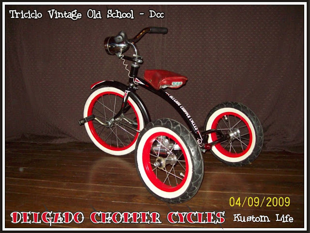 Triciclo para niños/as vintage - Old School - DCC
