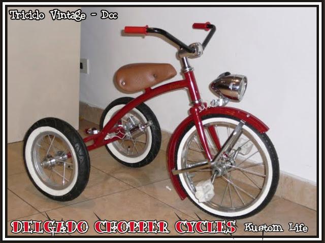 Triciclo para niños estilo vintage de los 40