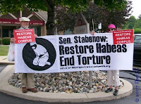 Restore habeas and stop torture sign