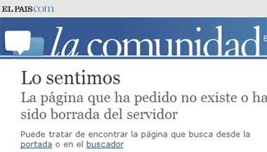 página donde estaba el blog El dorado en elpais.com (http://lacomunidad.elpais.com/grt12)