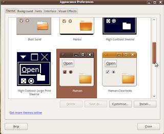 el nuevo tema de Ubuntu 9.10