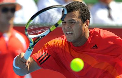 Black Tennis Pro's Jo-Wilfried Tsonga vs. Robin Soderling AAMI Classic Kooyong