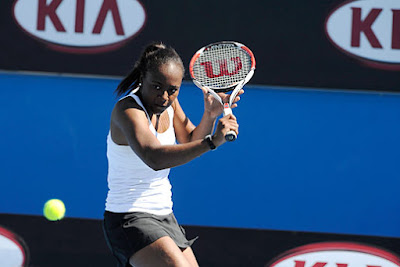 Black Tennis Pro's Shenay Perry 2010 Australian Open Qualifying