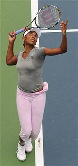 Black Tennis Pro's Venus Williams practices for Hong Kong Classic 2010