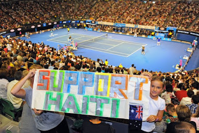 Black Tennis Pro's Australian Open Fab Eight Hit For Haiti