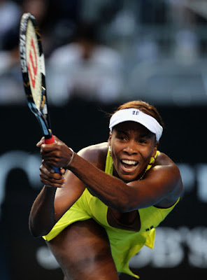 Black Tennis Pro's Venus Williams vs Lucie Safarova AO 2010