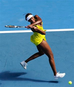 Black Tennis Pro's Venus Williams vs. Sybille Bammer 2010 Australian Open